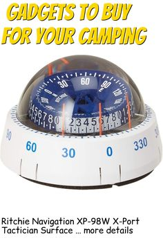 Ritchie Navigation XP-98W X-Port Tactician Surface Mount Compass, White with Blue Dial … (This is an affiliate link) #campinggadgets