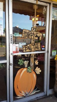 I don't too many windows for fall but the Southwest Diner in Boulder City always has me do their's up for Fall. Fall Store Displays, Store Window Displays, Autumn Painting, Autumn Art, Painted Window Art, Window Paint, Fall Window Decorations, Window Mural, Store Front Windows