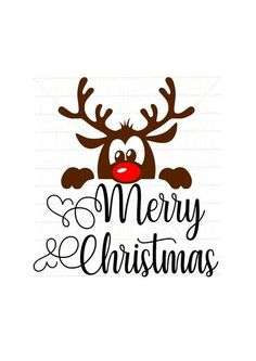 Baby reindeer Merry Christmas svg file  Christmas instant download  Use with Cricut or Silhouette  S Merry Christmas Images, Christmas Vinyl, Noel Christmas, Christmas Projects, First Christmas, Christmas Greetings, Merry Christmas Wishes, Christmas Stencils, Christmas Design
