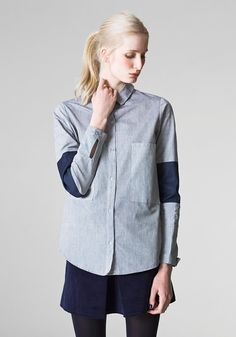 Flourance /  organic cotton  / boyfriend style shirt  / by RIYKA