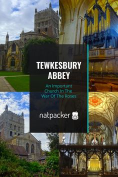 If you love history, Tewkesbury Abbey should be on your list to visit. This historic church played an important role in the War of the Roses. It's a beautiful church found on the edge of the Cotswolds. In this post you'll discover it's history & how to visit. Tewkesbury Abbey | Cotswolds Travel | Abbey | Church | Historic Places | Visit England | Explore England | Places To Visit In The Cotswolds | Travel Inspiration | Tewkesbury | Discover England | Buildings | Relegious Building | Wanderlust