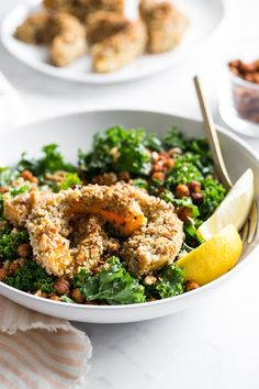 Nutty Crusted Butternut Squash Bowl with 10-Spice Roasted Chickpeas