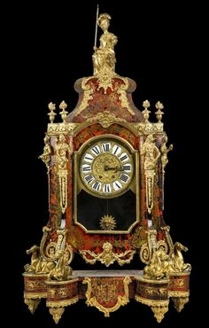 Lot:19th C. French Palatial Boulle Mantle Clock, Lot Number:398, Starting Bid:$3000, Auctioneer:Royal Antiques, Auction:19th C. French Palatial Boulle Mantle Clock, Date:11:00 AM PT - Sep 11th, 2016