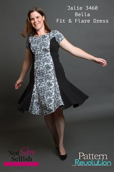 SYSL with the Jalie Bella Fit And Flare Dress — Pattern Revolution