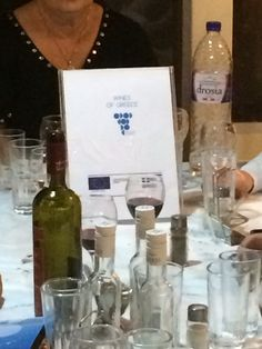 dinner at Kotsinas with our partners Wines, Greece, Bottle, Greece Country, Flask, Jars
