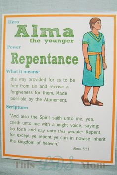 This LDS Mom: Scripture Heroes: Alma the Younger