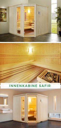 Sauna im Bad: Die positive Wirkung der Sauna ist dem Menschen seit langem bekannt. In den Infraworld Saunen entsteht dabei ein besonders intensives und natürliches Klima, um den Körper fit zu halten. Ob finnische Sauna mit sehr hohen Temperaturen und geringer Luftfeuchte oder Biosauna mit niedriger Temperatur und hoher Luftfeuchtigkeit von ca. 60 %, die Saunen von Infraworld sind für alle Arten des Saunabadens geeignet. Jetzt zugreifen und entspannen!  #Sauna #Innensauna #Innenkabine Bio Sauna, Garage Doors, Fit, Outdoor Decor, Home Decor, Patio, Home And Garden, People, Interior