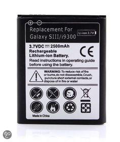 Samsung Galaxy S3 i9300 i9305 High Capacity Battery Batterij 2500 mAh