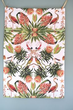 Eden Tea towel - also available as fabric by the metre