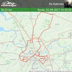 Check out my ViewRanger route (#on road biking) - total distance 50.53 km. View it here: