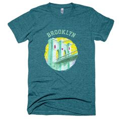 Happy Brooklyn Bridge T-Shirt by Nate Bear $23.00
