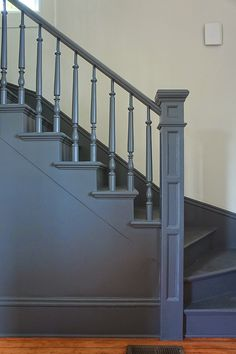 Like the idea of painting the stairs and skirting boards and leaving the walls white