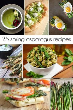 I've rounded up the best 25 Spring Asparagus Recipes including mouthwatering breakfasts, tasty appetizers, easy side dishes, yummy main dishes, and soups.
