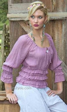 Sacred Threads Clothing Rose Blouse In Mauve