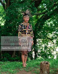 Bagobo Tribeswoman Philippines Outfit, Filipina, Anthropology, Folk Art, Captain Hat, Textiles, Stock Photos, Costumes, Traditional