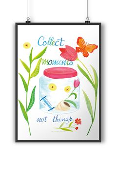 Poster DIN A3 Collect Moments, not things aus Papier 160 Gramm