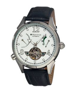 Men's Bragg Leather Strap Watch by Heritor Automatic at Gilt