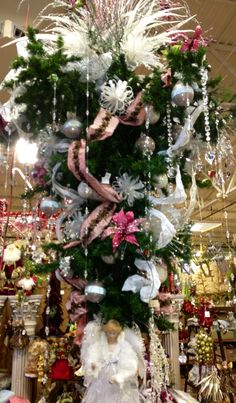 Pink and White #UpsideDown Christmas Tree