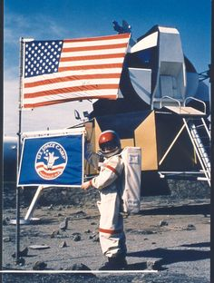 A retro picture from the Kids' Cosmos section of Space Camp!