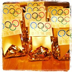 Olympic Party Kit (Party Favors, Trivia Game & More) – So Festive! Party Kit, Party Bags, Party Favors, Gymnastics Birthday, Olympic Gymnastics, Olympic Sports, Olympic Idea, Olympic Games, Office Olympics