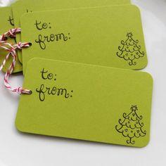 Gift Tag Ideas   50 Christmas Themed Gift Tag Ideas