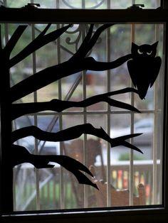 how to make halloween window silhouettes
