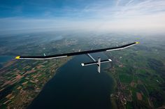 This Solar Aircraft called HB-SIA Solar Impulse promoted the potential of solar energy by traversing almost 6,000 km on its first trip intercontinental round-trip between Europe and Africa. – Fubiz™