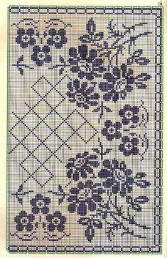 Kira scheme crochet: Scheme crochet no. Thread Crochet, Filet Crochet, Crochet Motif, Knit Crochet, Crochet Hats, Crochet Table Runner, Crochet Tablecloth, Cross Stitch Embroidery, Cross Stitch Patterns