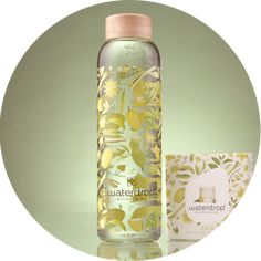 Bouteille en inox - 500 ml ou 1 l – Waterdrop® FR Plastic Bottles, Glass Bottles, Hibiscus, Voss Bottle, Water Bottle, Elixir Of Life, Mango, Pantothenic Acid, Dandelion