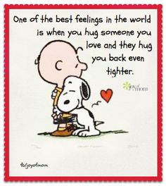 Snoopy and Charlie Brown.I love you Charlie Brown. Snoopy Love, Charlie Brown Et Snoopy, Snoopy And Woodstock, Snoopy Hug, Charlie Brown Valentine, Snoopy Beagle, Good Morning Hug, Good Morning Quotes, Sunday Morning