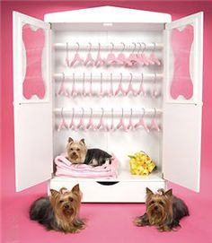 Bon' Armoire Closet - a pet closet for Harold and Luigi's clothes. A dream come true.