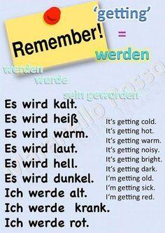 Deutsch lernen on Embedded image German Language Learning, Language Study, Spanish Language, French Language, Dual Language, Foreign Language, German Grammar, German Words, German English