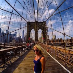 Brooklyn Bridge in New York. #GoPro #city #NYC #newyork #brooklynbridge #travel #wanderlust