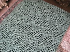 Another view of my completed blanket