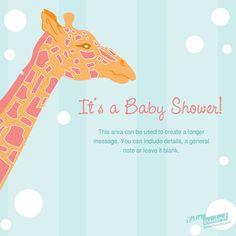 26 best baby shower e invitations images on pinterest shower ideas baby shower giraffe designed by katie crawford on pingg e invitationsinvitation filmwisefo