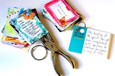 DIY: Inspirational Card Deck by Jessica Brogan, a project in Christine Mason Miller's Desire to Inspire http://www.amazon.com/gp/product/1440310734/ref=as_li_tf_tl?ie=UTF8&tag=liberalsprink-20&linkCode=as2&camp=1789&creative=9325&creativeASIN=1440310734 #crafts #inspiration