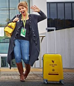 #FGR14 I see myself departing London Heathrow with my Yellow Suitcase after the Global Rally at the O2! Positively Practicing The Law of Attraction :-)
