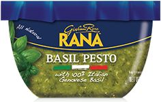 Basil Pesto: Made with 100% Genovese basil; the perfect addition to pasta, sandwiches or salad dressings #GiovanniRana #Pesto