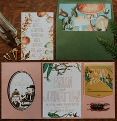 Wes Anderson paper goods invitation