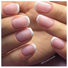 Accurate nails, Classic french manicure, Delicate nails, Everyday nails, Gentle french nails, Hardware nails, Ideas of gentle nails, Nails ideas 2017