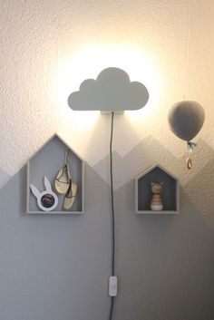 DIY Cloud Lamp - cloud light for the winding corner - Babyroom