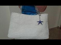 "Borsa ""Rossanna"" /borsa di fettuccia /crochet bag/bolso de ganchillo - YouTube"