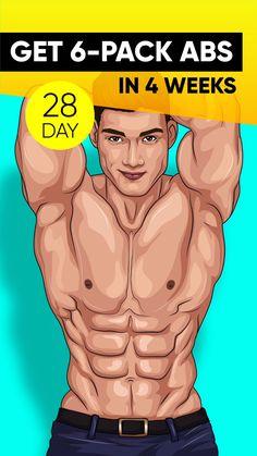 Workout Plan Get Ultimate 28 Days Meal Fitness Hacks, Fitness Workouts, At Home Workouts, Health Fitness, Workout Diet, Video Motivation, Sport Motivation, Abs Challenge, Fitness Studio Training
