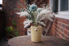 Zoo Keeper, Flower Pots, Flowers, Stoneware, Vase, Bear, Ceramics, Table Decorations, Yellow