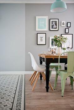 Apartamento decorado a verde menta e preto ~ Decoração e Ideias - casa e jardim