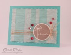Woodgrain Stripes Thanks Card by MossyMade on Etsy, $4.00