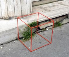 Wild urban vegetation is often ignored, so art students Audrey Charré, Clémentine Schmidt and Luc Beaussart came up with these cute 'Urban Greenhouses' to honor plants growing in cracks in buildings or sidewalks. The brightly colored 3D spaces protect plants from being stepped on or knocked over, honoring life while calling attention to the vital force of nature in urban environments!