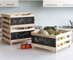 Fruit & Veg Storage Crates - Set of 3 - Innovations Vegetable Crates, Apple Crates, Farm Projects, Cleaning Appliances, Home Storage Solutions, Crate Storage, Pantry Organization, Fruit And Veg, Decor Crafts