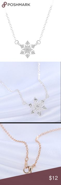 """Silver Plated Snowflake Necklace Perfect for the holidays!  16"""" chain lead and nickel free. Kat's Boutique Jewelry Necklaces"""