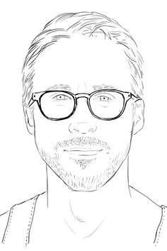 Ryan Gosling Coloring pages!
